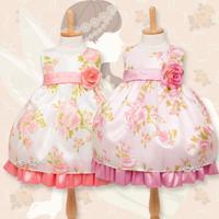 ベビードレス MB140-B 花柄模様のラブリードレス